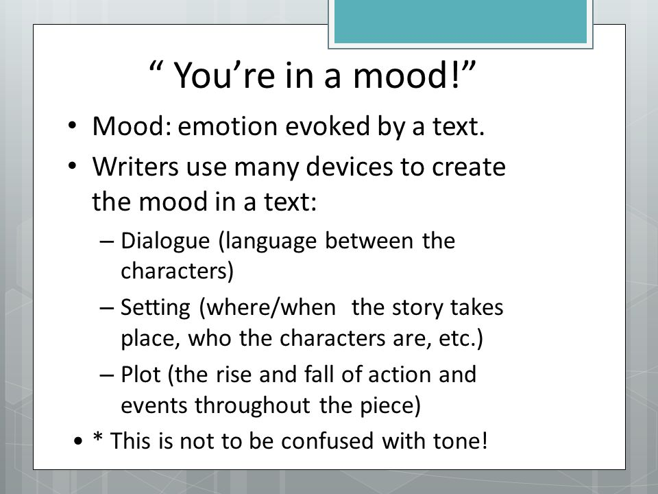 Tone And Mood Ppt Download