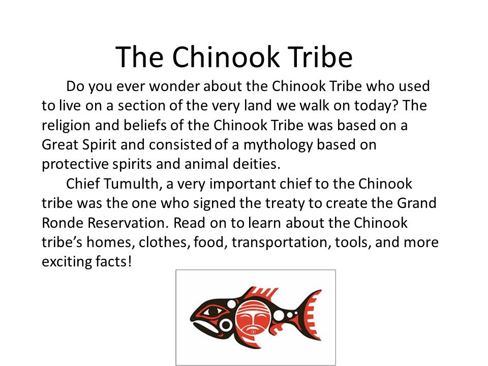 Today Location Tribe Chinook