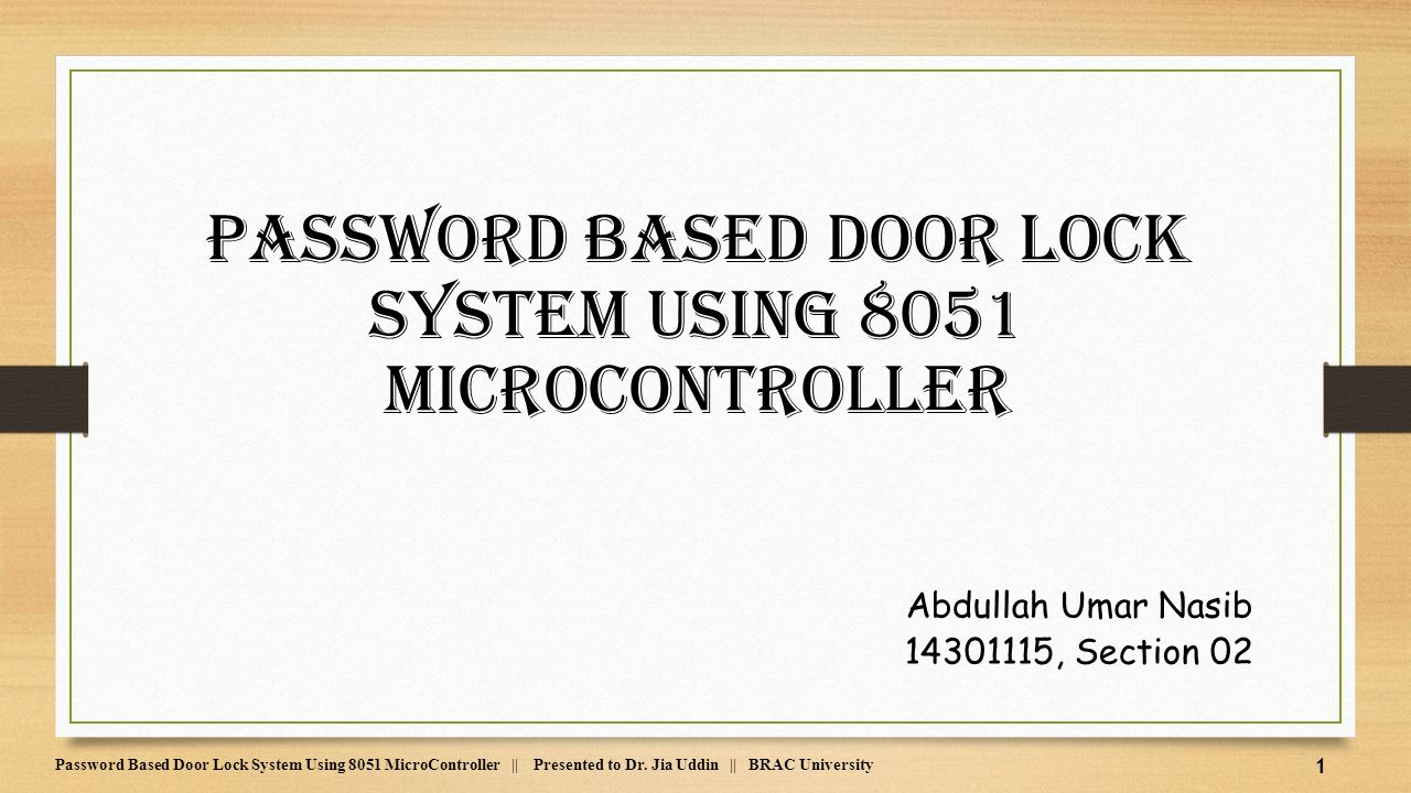 8051 Microcontroller Electronicswork