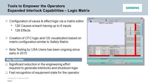 small resolution of tools to empower the operators expanded interlock capabilities logic matrix