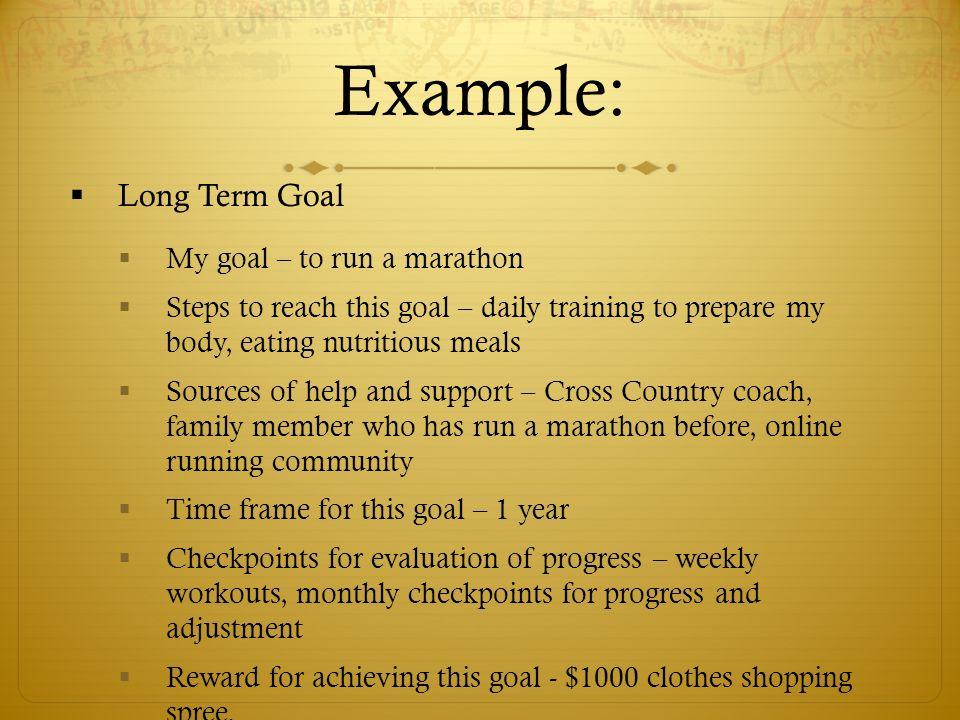 long term goals examples