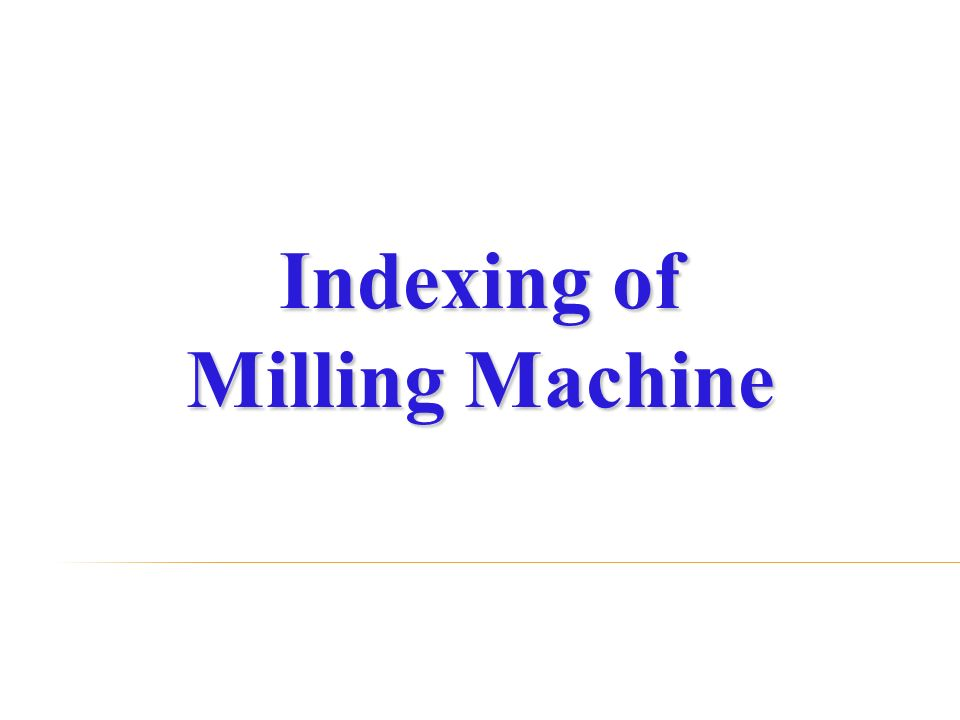 Indexing Head Mechanism Works With
