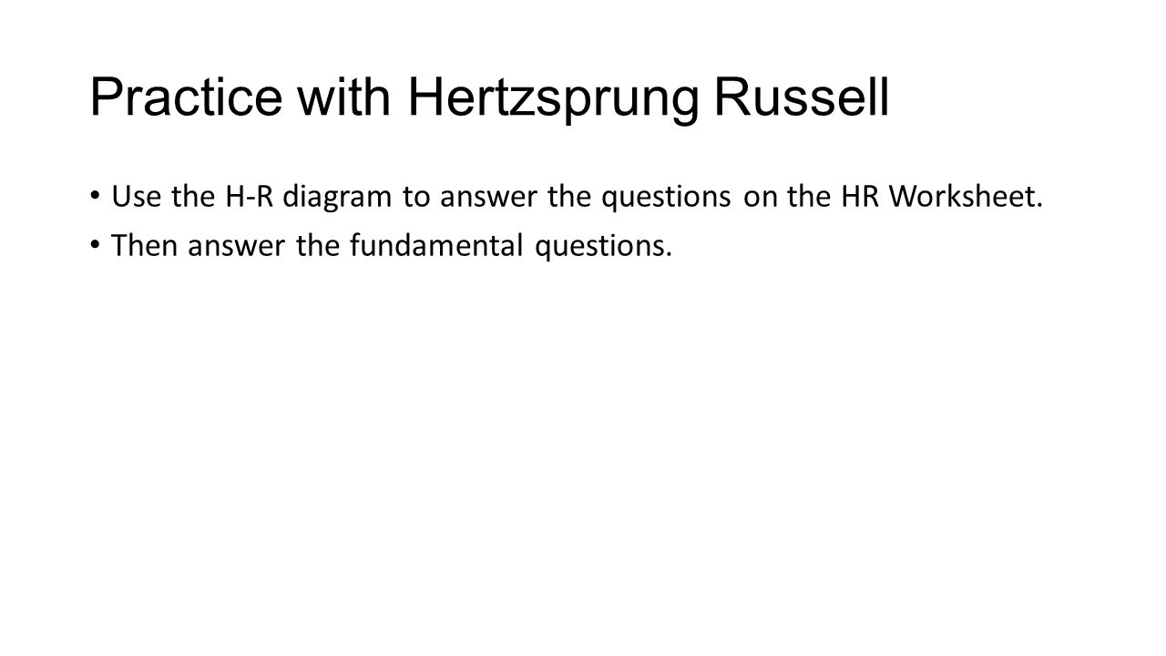 hight resolution of practice with hertzsprung russell