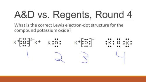 small resolution of 10 a d vs regents round 4 what is the correct lewis electron dot structure