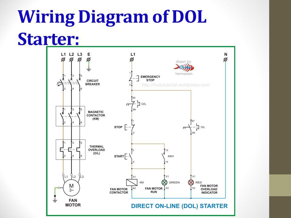 single phase dol starter wiring diagram back of throat elements electrical design hasmukh goswami college engineering 6