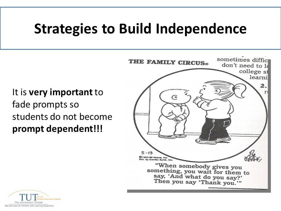 Concepts and Strategies for Supporting Student