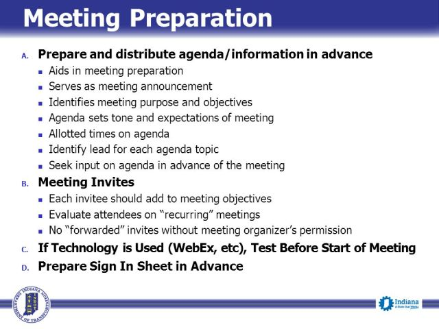 how to prepare for meeting