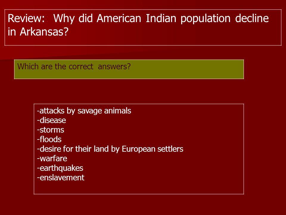American Indian Population Decline Disease