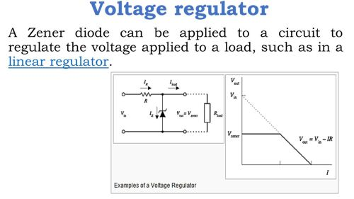 small resolution of 16 voltage regulator a zener diode can be applied to a circuit to regulate the voltage applied to a load such as in a linear regulator