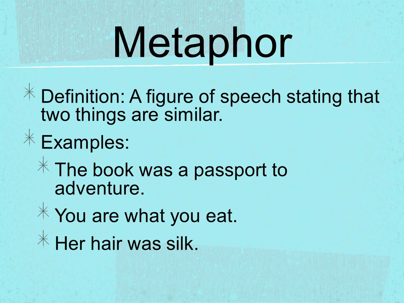 What Is Simile And Metaphor With Examples