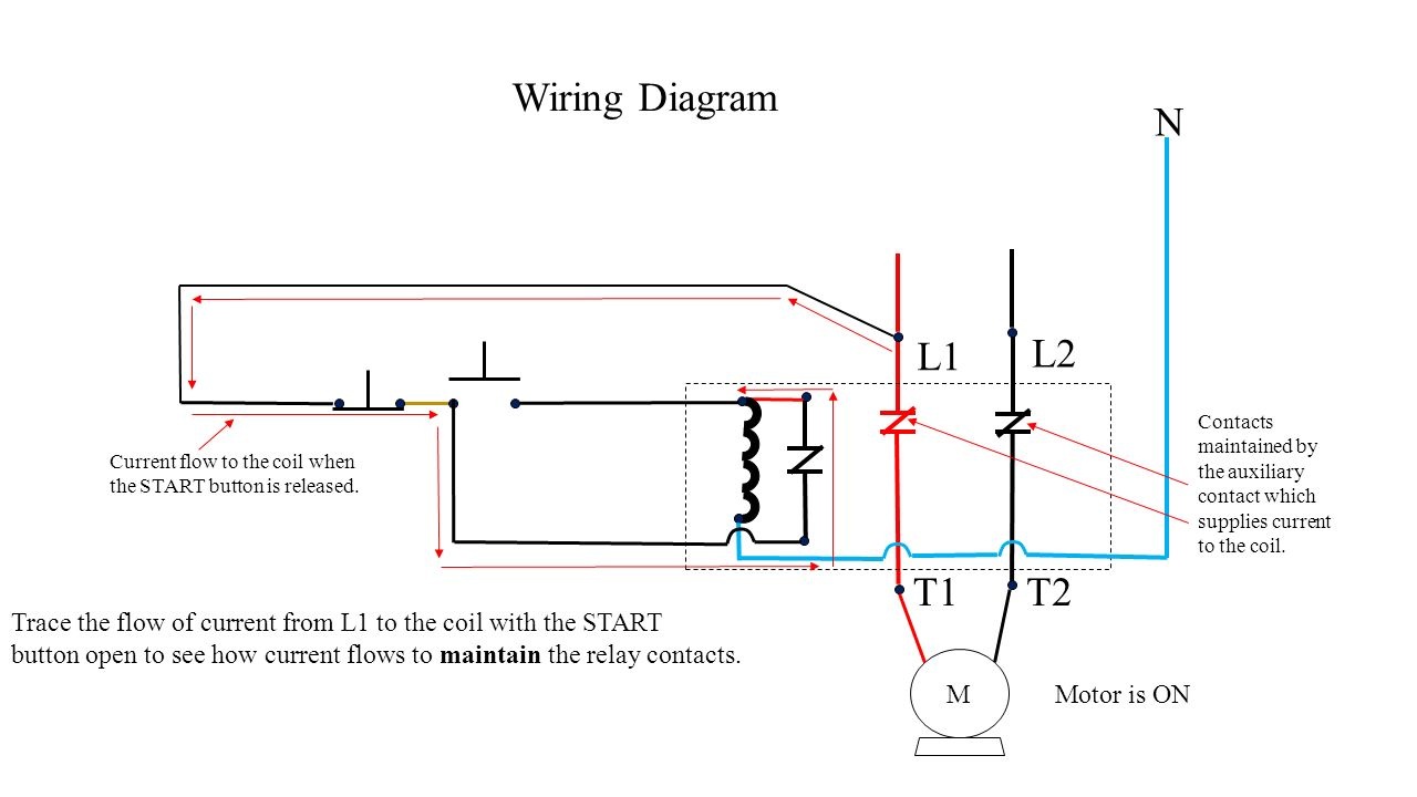 hight resolution of push button station and relay ppt video online download 2 way light switch wiring diagram