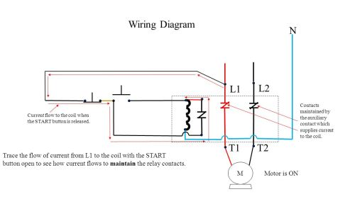 small resolution of push button station and relay ppt video online download 2 way light switch wiring diagram