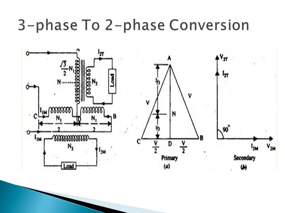 Convert 2 Phase To 3 Phase