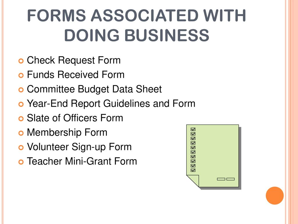 Forms Associated With Doing Business