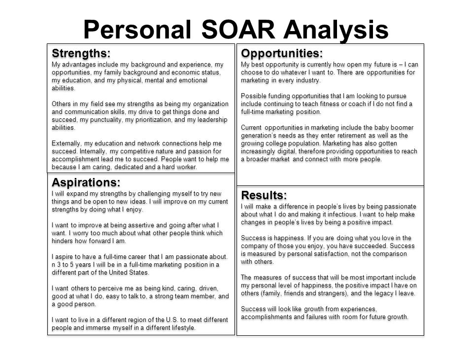 Personal SOAR Analysis Ppt Video Online Download