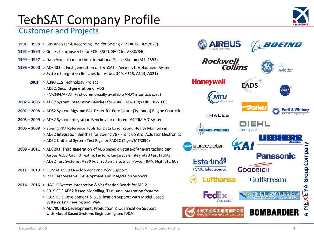 hight resolution of 4 techsat company profile