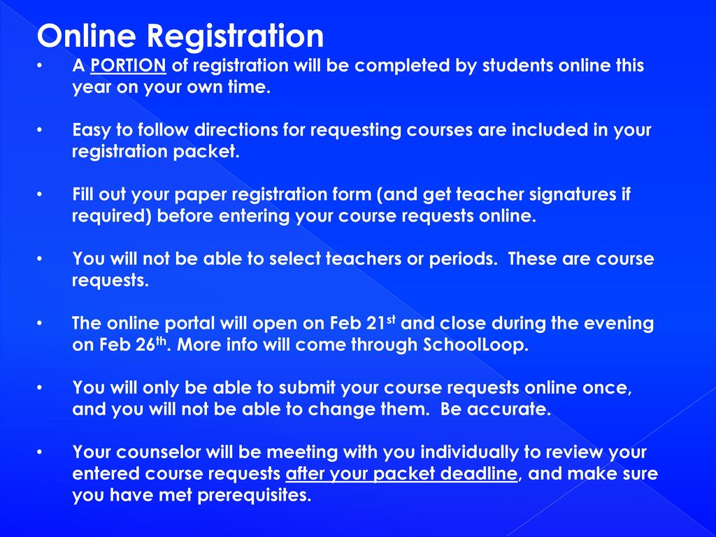 hight resolution of Registering for your 12th Grade Classes - ppt download