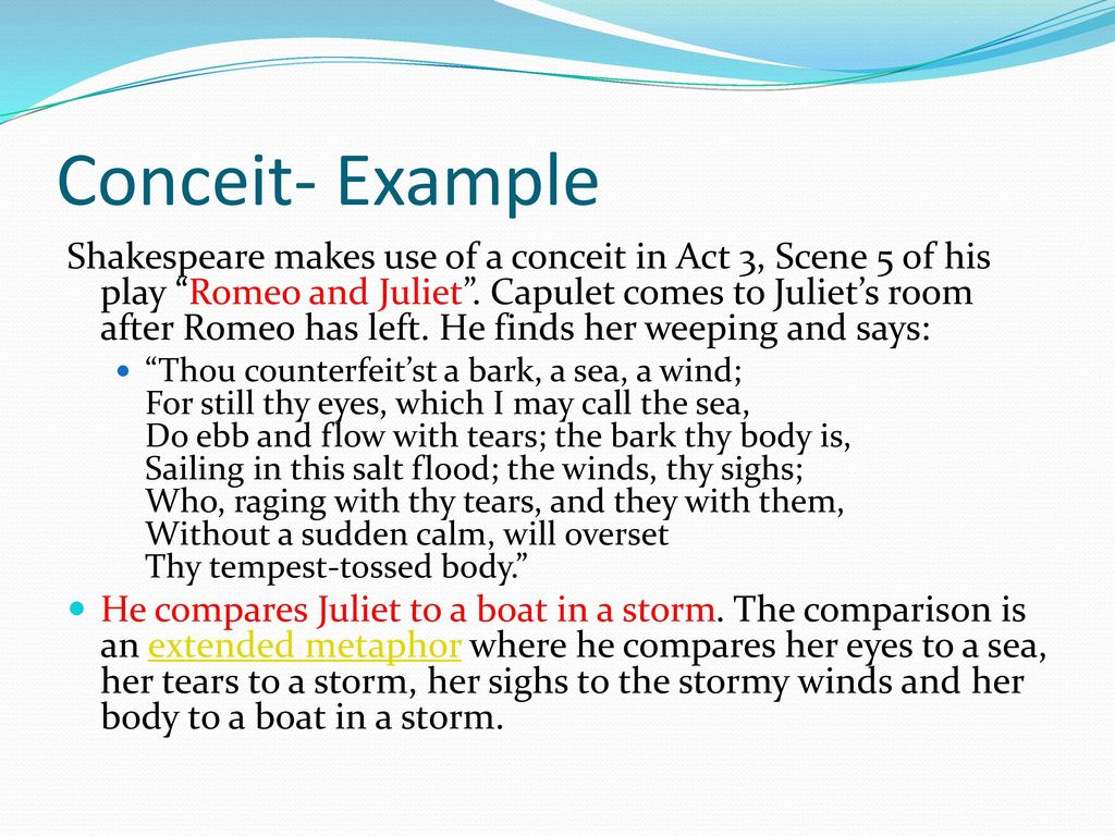 Example Of Conceit Literary Term