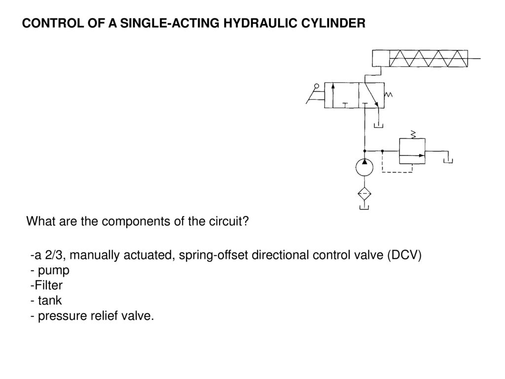 hight resolution of 6 control of a single acting hydraulic cylinder