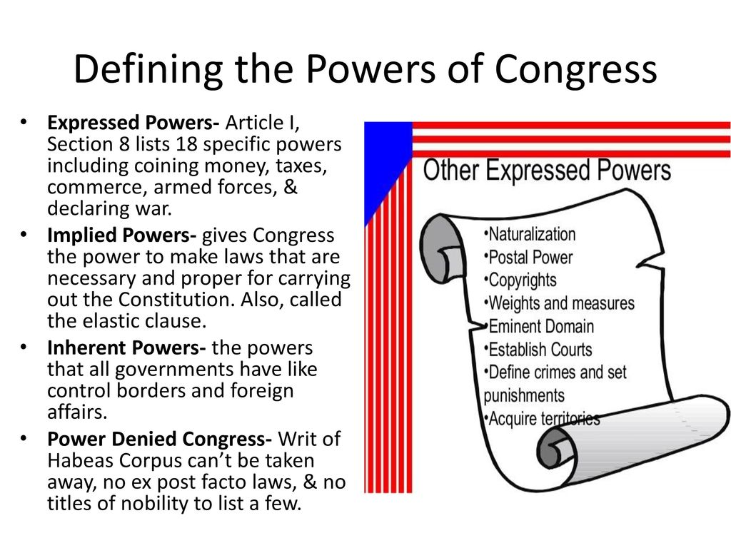Defining The Powers Of Congress