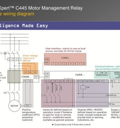 example wiring diagram intelligence made easy power xpert c445 motor management relay [ 1024 x 768 Pixel ]
