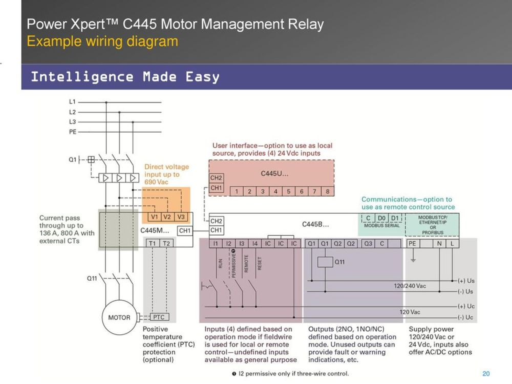 medium resolution of example wiring diagram intelligence made easy power xpert c445 motor management relay
