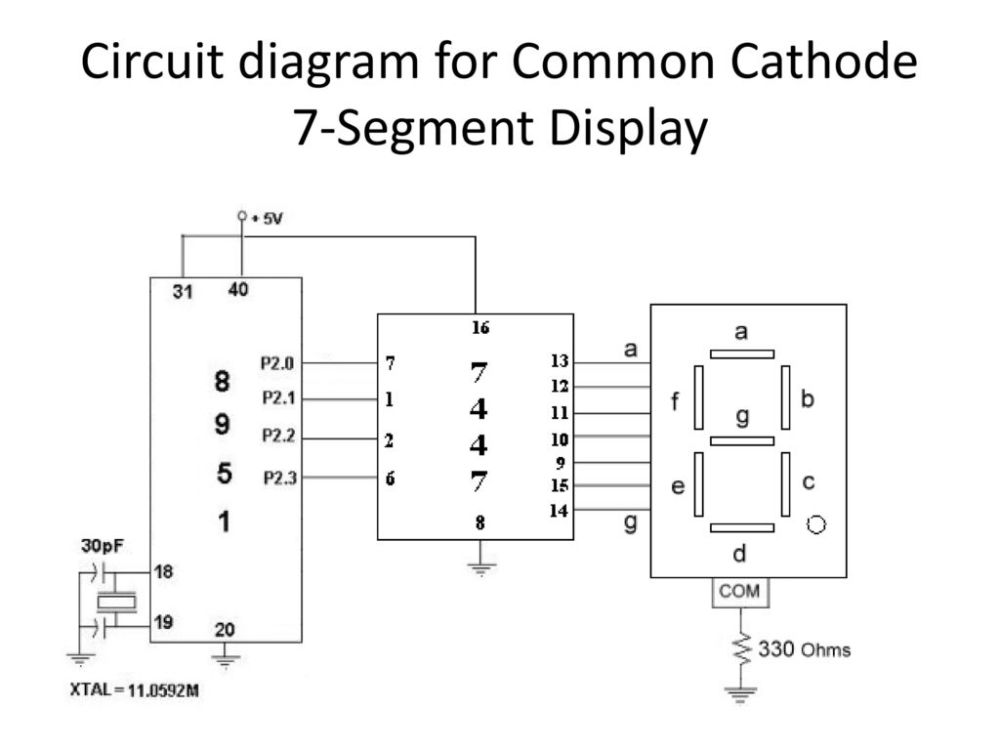 medium resolution of 10 circuit diagram for common cathode 7 segment display
