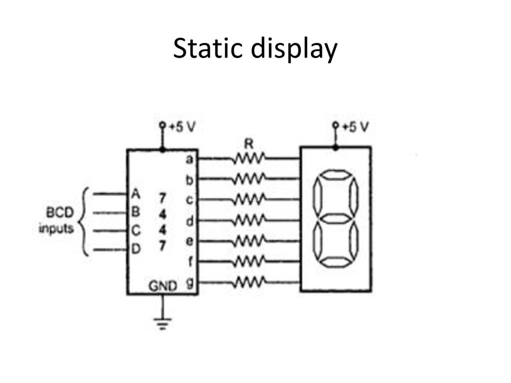 Circuit Diagram For Interfacing Common Anode 7 Segment