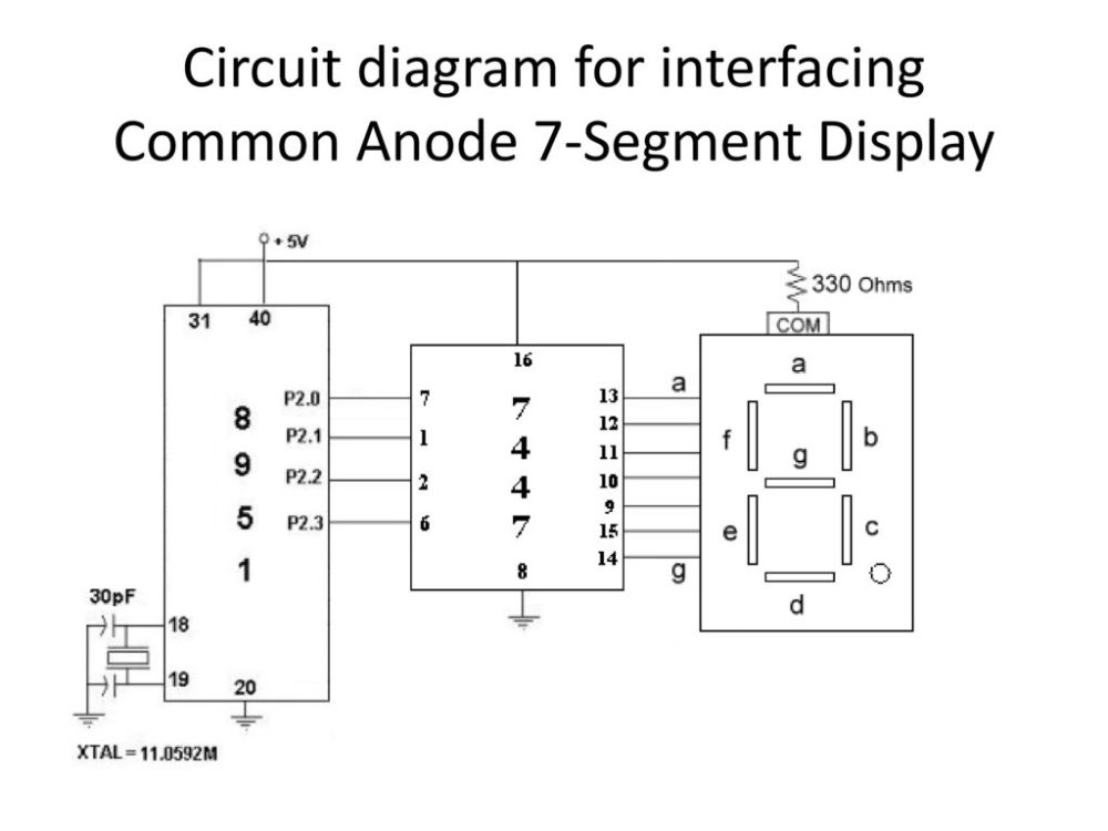 medium resolution of circuit diagram for interfacing common anode 7 segment display9 circuit diagram for interfacing common anode 7