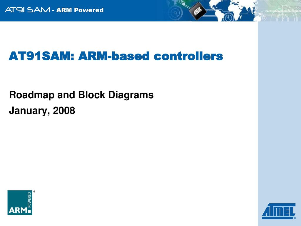hight resolution of at91sam arm based controllers