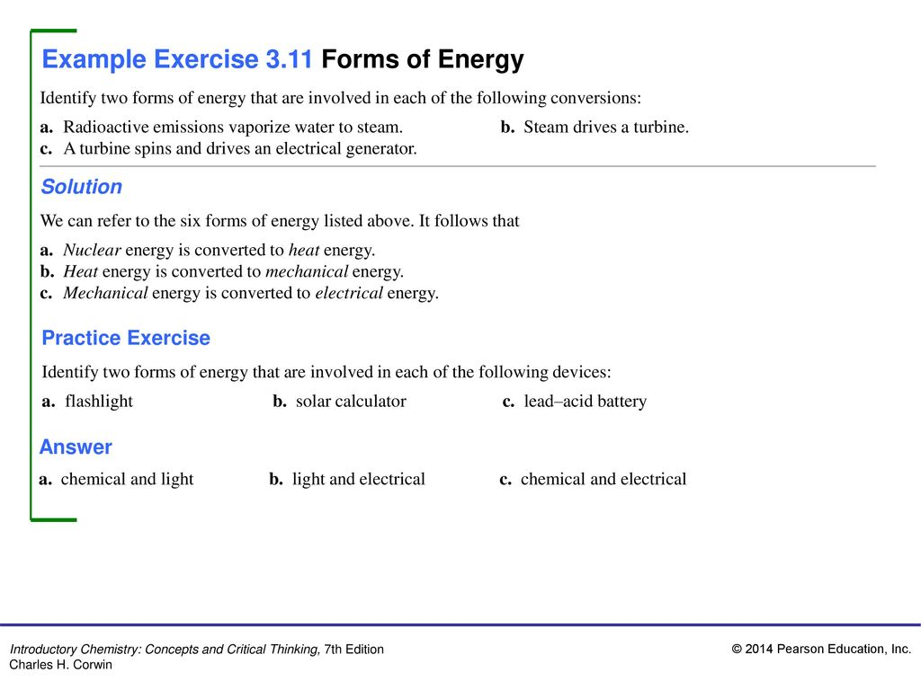 Example Exercise 3 1 Change Of Physical State