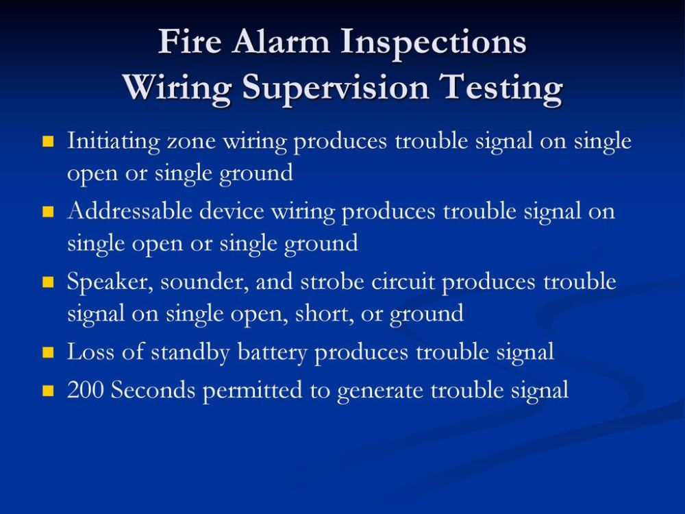 medium resolution of 81 fire alarm inspections wiring supervision testing initiating