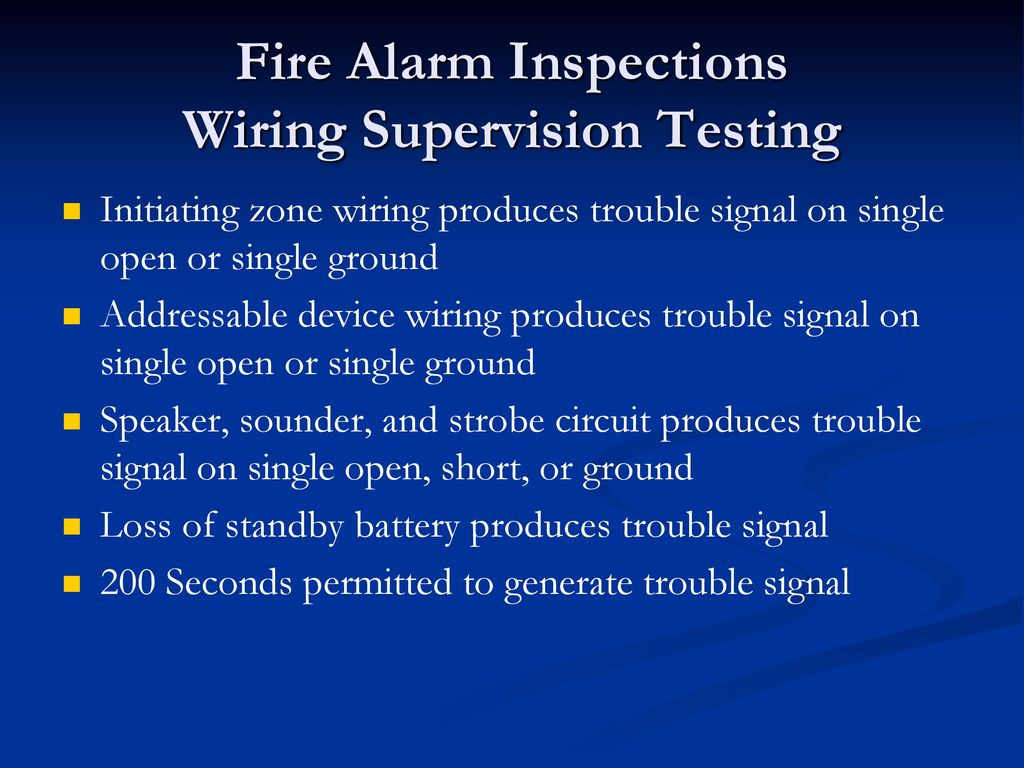 hight resolution of 81 fire alarm inspections wiring supervision testing initiating