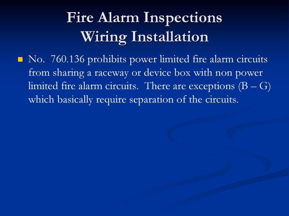 medium resolution of 85 fire alarm inspections wiring installation