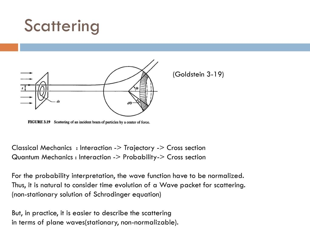hight resolution of 3 scattering goldstein