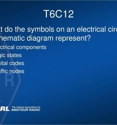 t6c12 what do the symbols on an electrical circuit schematic diagram represent a electrical components [ 1024 x 768 Pixel ]