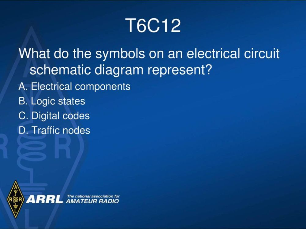medium resolution of t6c12 what do the symbols on an electrical circuit schematic diagram represent a electrical components