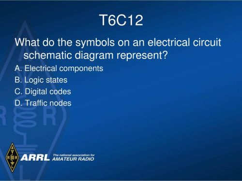 small resolution of t6c12 what do the symbols on an electrical circuit schematic diagram represent a electrical components