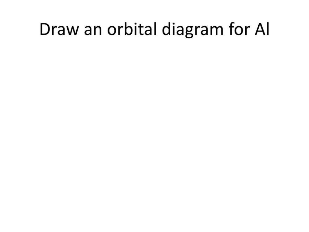 medium resolution of presentation on theme draw an orbital diagram for al presentation transcript 1 draw an orbital diagram