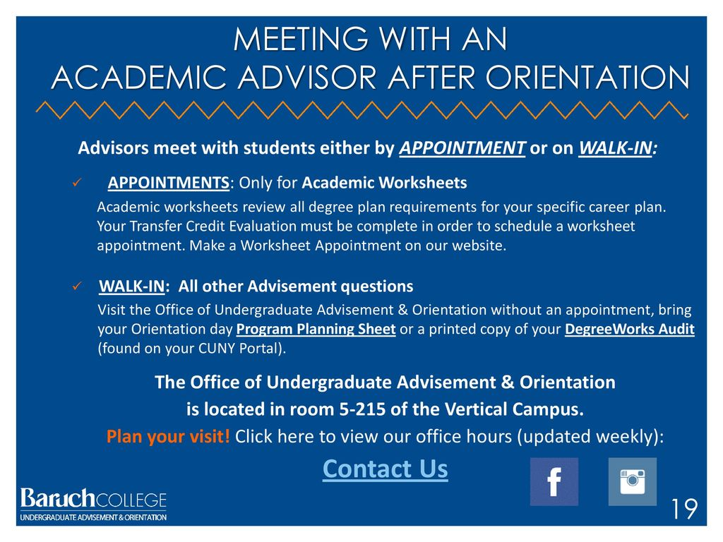 Worksheet Appointment Baruch
