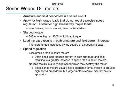 small resolution of series wound dc motors armature and field connected in