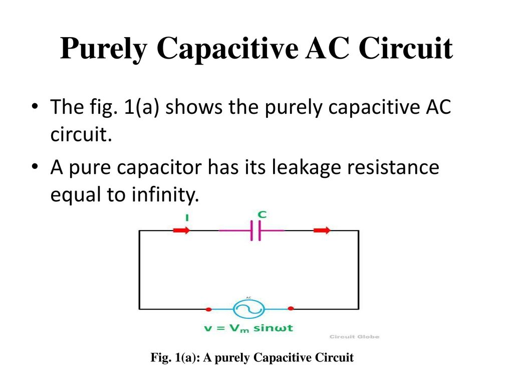 hight resolution of purely capacitive ac circuit
