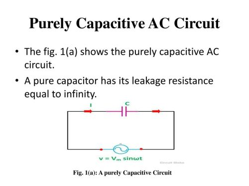 small resolution of purely capacitive ac circuit