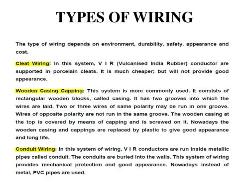 small resolution of unit 5 electrical safety wiring introduction to power system rh slideplayer com types of wiring system pdf types of wiring diagrams