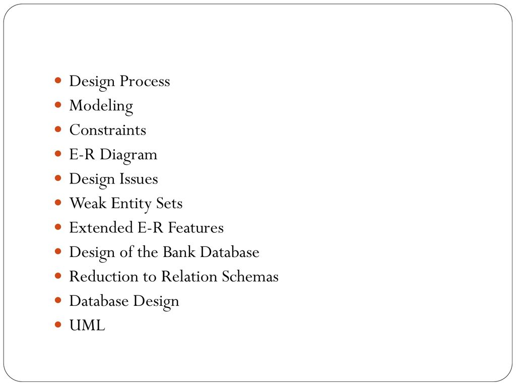 hight resolution of design process modeling constraints e r diagram design issues weak entity sets