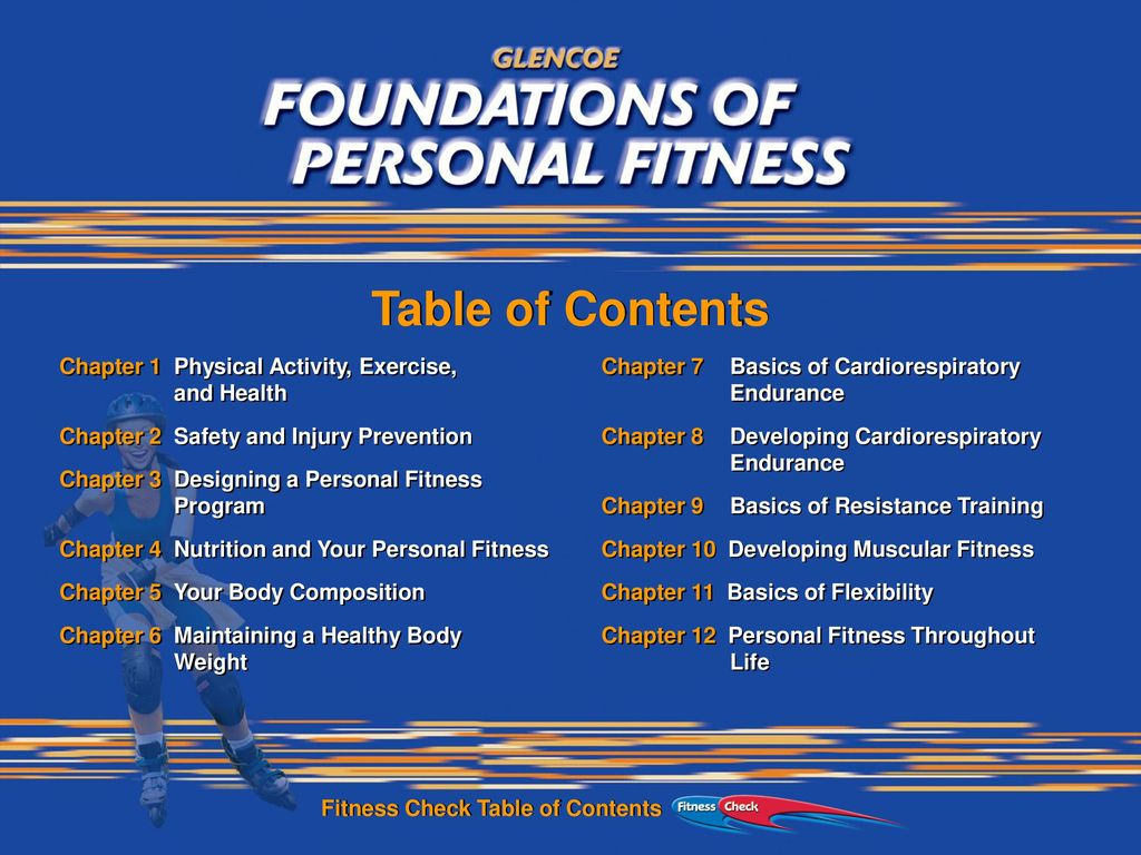 Table Of Contents Chapter 1 Physical Activity Exercise And Health