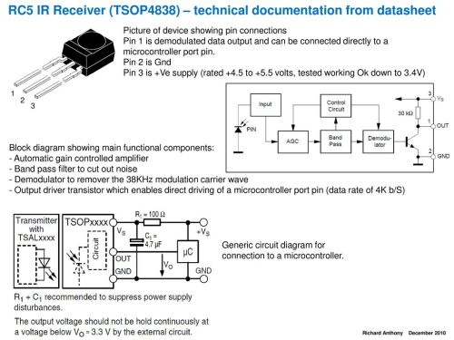 small resolution of rc5 ir receiver tsop4838 technical documentation from datasheet