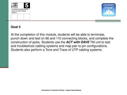 small resolution of introduction to network cabling 2 1 goal 5 at the completion