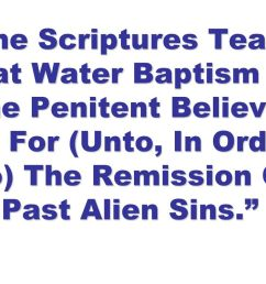 6 the scriptures teach that water baptism  [ 1024 x 768 Pixel ]
