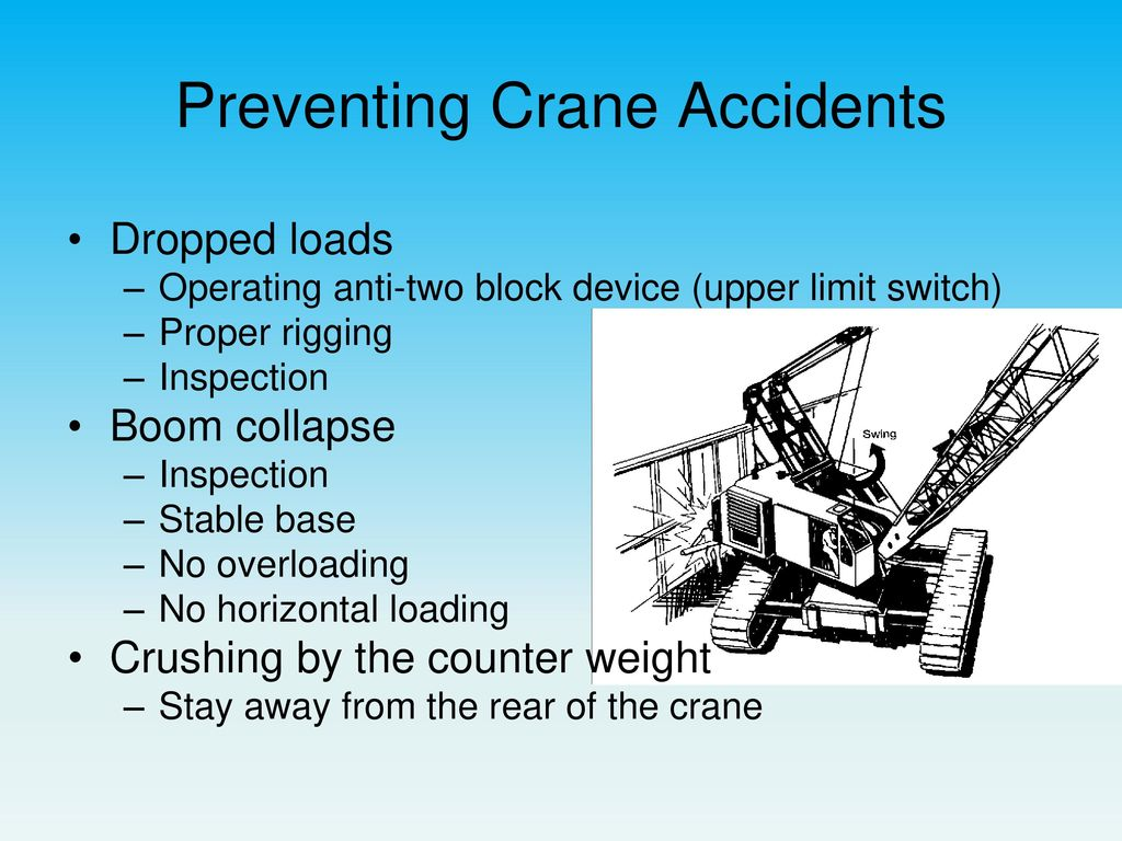 hight resolution of preventing crane accidents
